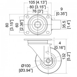 Measurements identical for W9000 and W9008