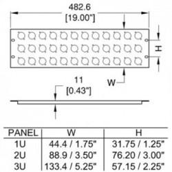 R1269-1UK-12 Rack Panel